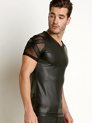 Complete the look: Gregg Homme Black X Pleather/Mesh V-Neck Tee