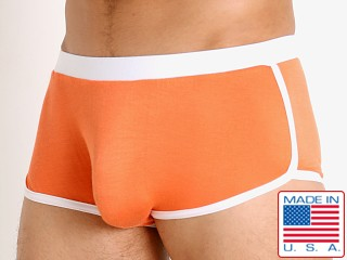 Model in tangerine Go Softwear Body 2 Extreme Retro Trunk