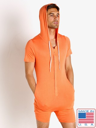 Model in tangerine Go Softwear Body 2 Extreme Pocket Onesie Bodysuit