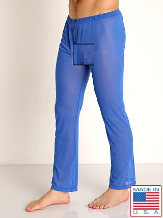 Model in royal Rick Majors Sheer Mesh Lounge Pant