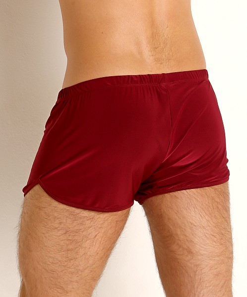 Rick Majors Glossy Flow Lounge Shorts Burgundy