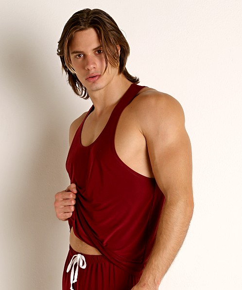 Rick Majors Glossy Flow Tank Top Burgundy
