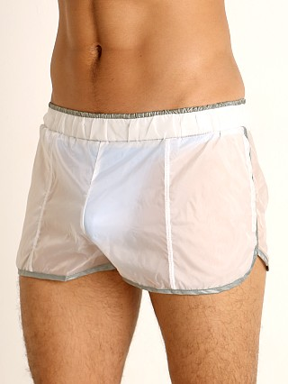 Complete the look: Rick Majors Sheer Ice Nylon Shorts White/Grey