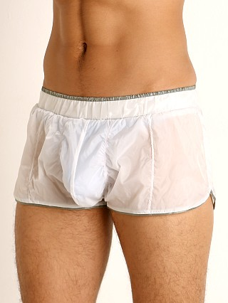 Complete the look: Rick Majors Sheer Ice Nylon Bulge Shorts White/Grey