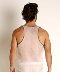 Rick Majors Sheer Ice Nylon Tank Top White/Grey, view 4