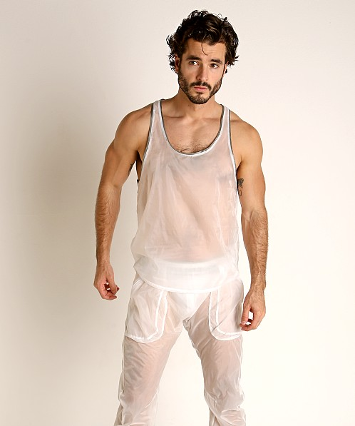 Rick Majors Sheer Ice Nylon Tank Top White/Grey
