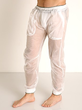 Complete the look: Rick Majors Sheer Ice Nylon Lounge Pant White/Grey