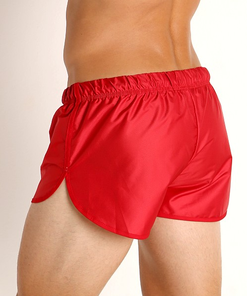 McKillop Drip Bolton Poly Swim and Gym Shorts Red