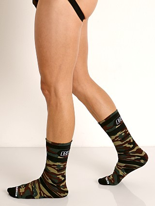 Cell Block 13 Foxhole Camo Knee Socks Army Green