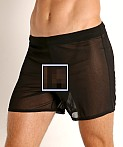 McKillop Push Ultra Stretch Mesh Fitness Shorts Black, view 3