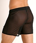 McKillop Push Ultra Stretch Mesh Fitness Shorts Black, view 4