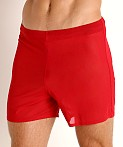 McKillop Push Ultra Stretch Mesh Fitness Shorts Red, view 3