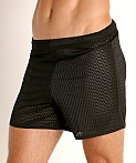 McKillop Push Expose Mesh Fitness Shorts Black, view 3