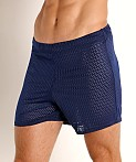 McKillop Push Expose Mesh Fitness Shorts Navy, view 3