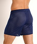 McKillop Push Expose Mesh Fitness Shorts Navy, view 4