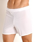 McKillop Push Expose Mesh Fitness Shorts White, view 3