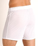 McKillop Push Expose Mesh Fitness Shorts White, view 4