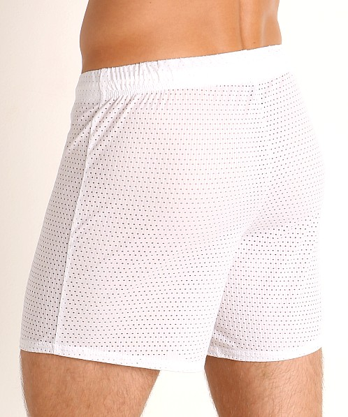 McKillop Push Expose Mesh Fitness Shorts White
