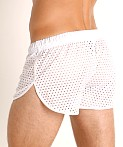 McKillop Ignite Glory Mesh Shorts White, view 4