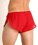 McKillop Ultra Stretch Mesh Running Shorts Red, view 4