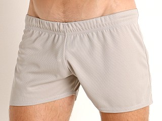 Model in light grey McKillop Score Athletic Shadow Short