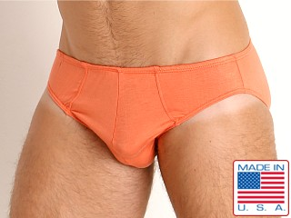 Model in orange Go Softwear Miami Heat Low Rise Briefs