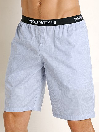 Model in microsquare Emporio Armani Woven Bermuda Shorts