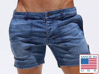 Rufskin Cobano Button Fly Denim Shorts Distressed