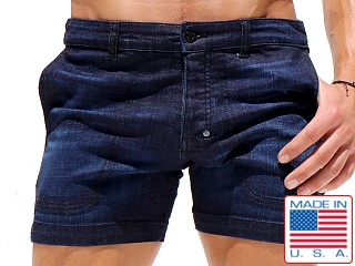 Rufskin Cobano Button Fly Denim Shorts Indigo