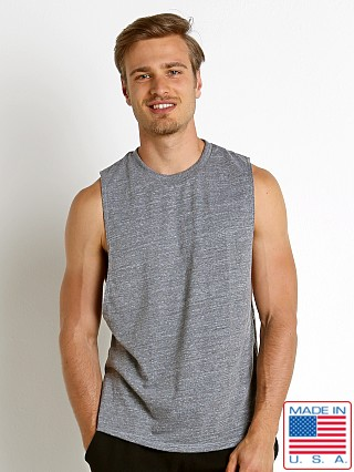 LASC Deep Cut Out Tank Top Heather Grey