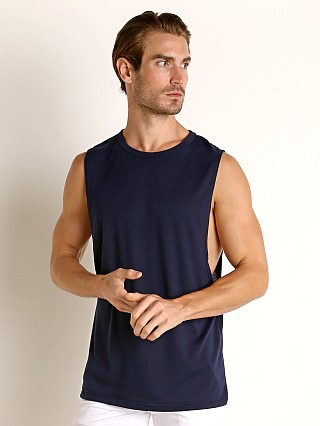 Complete the look: LASC Deep Cut Out Tank Top Navy
