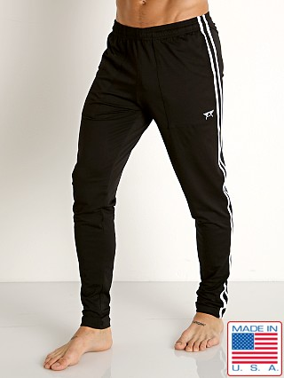 Model in black/white LASC Performance Gymnast Pant Black