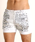 LASC Transformer Sequined Sparkle Trunk White/Silver, view 3