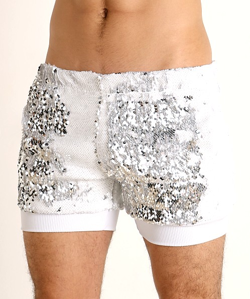 LASC Transformer Sequined Sparkle Trunk White/Silver
