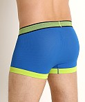 2xist Textured Sport No Show Trunk Lapis/Lime Green, view 4