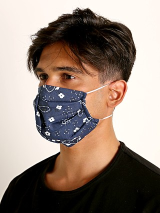 Complete the look: LASC Fashion Face Mask Bandana Print Navy