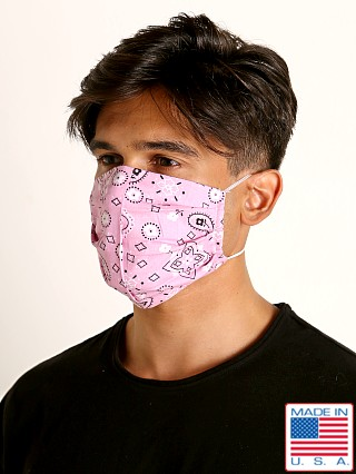 LASC Fashion Face Mask Bandana Print Pink