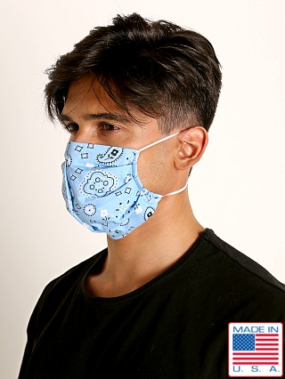 LASC Fashion Face Mask Bandana Print Sky Blue