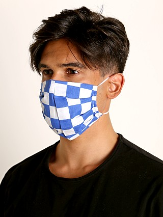 Complete the look: LASC Fashion Face Mask Blue Checks
