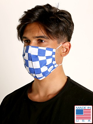 LASC Fashion Face Mask Blue Checks