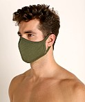 LASC Stretch Cotton Face Mask Army Green, view 1