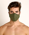 LASC Stretch Cotton Face Mask Army Green, view 2
