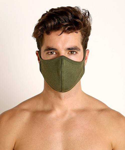 LASC Stretch Cotton Face Mask Army Green