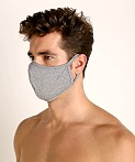 LASC Stretch Cotton Face Mask Heather Grey, view 1