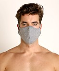 LASC Stretch Cotton Face Mask Heather Grey, view 2