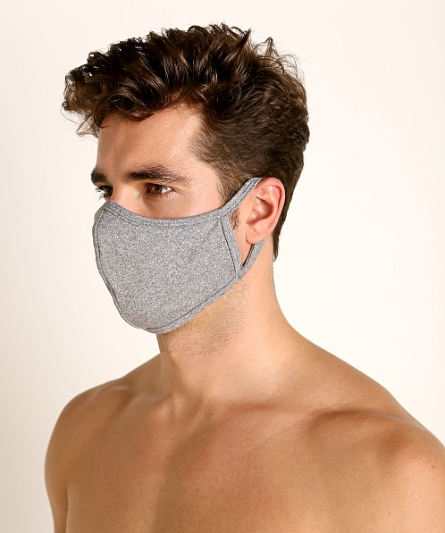 LASC Stretch Cotton Face Mask Heather Grey