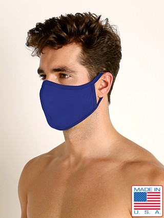 LASC Stretch Cotton Face Mask Cobalt