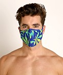 Rick Majors Fashion Face Mask Blue Sativa, view 2