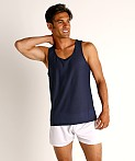 St33le Honeycomb Mesh Performance Tank Top Navy, view 2