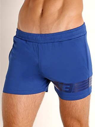 Model in blue Cell Block 13 Sprinter Short